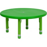 Flash Furniture YU-YCX-007-2-ROUND-TBL-GREEN-GG 33