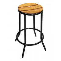 Florida Seating BAL-607TK Sand Key Collection Backless Black Frame Outdoor Barstool