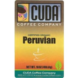 Cuda Coffee Certified Organic Peruvian 1lb