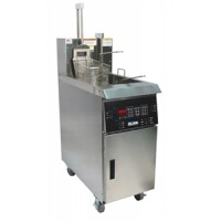 Giles GBF-50-M-BL Fryer 50 lbs Shortening Capacity with Manual Controller and Basket Lifts 208V/60Hz/3Ph