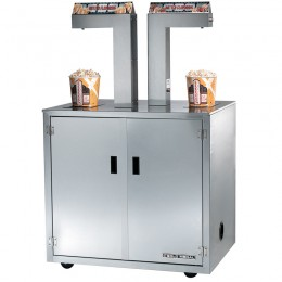 Gold Medal 2396-00-121 Single-Head Butter Topping Dispenser Enclosed Cabinet, Casters, Remote Switch