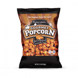 Gold Medal 3719 Pre-Packaged 3.3oz Old Fashioned Caramel Corn Bags 24/CS