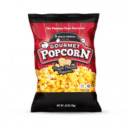Gold Medal 3721 Pre-Packaged .63oz Movie Theater Buttery Popcorn Bags 24/CS