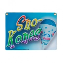 Gold Medal 1899 Heavy Duty Sno-Kone Sign