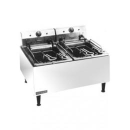 Cecilware ELT500 30 lb Electric Medium-Duty Twin Countertop Fryer