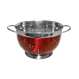 Heuck 36073 5qt Red Stainless Steel Colander