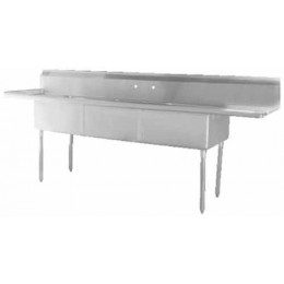 GSW 3 Compartment Sink Tubs w/ 2 Drainboards