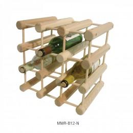 JK Adams MWR-B12-N Natural Finish 12 Bottle Wine Rack