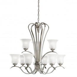Kichler 10741NI Wedgeport Collection Chandelier 9Lt Fluorescent