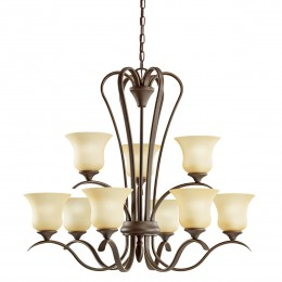 Kichler 10741OZ Wedgeport Collection Chandelier 9Lt Fluorescent