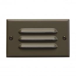 Kichler 12600AZ LED Step Light Horizontal Louver Architectural Bronze