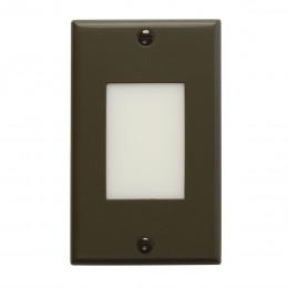 Kichler 12604AZ LED Vertical Lens Step Light Architectural Bronze 120V