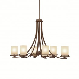 Kichler 1673OZ Hendrik Collection Oval Chandelier 6Lt