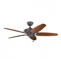 Kichler 300117DBK Distressed Black 52 Inch Canfield Fan