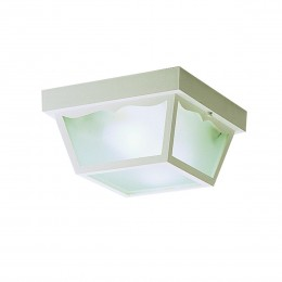 Kichler 9322WH Outdoor Plastic Fixtures Collection Outdoor Ceiling 2Lt