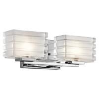 Kichler 45478CH Bazley Collection Bath 2Lt Halogen Chrome