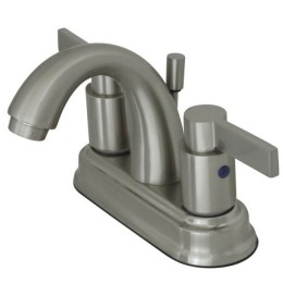 Kingston Brass KB8618NDL NuvoFusion High Rise J Spout Lavatory Faucet