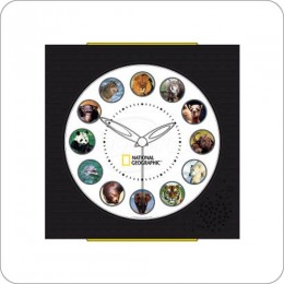 Koolatron NGAC National Geographic Animal Sounds Clock