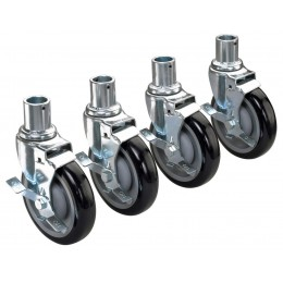 Krowne 28-151S - Universal Wire Shelving Caster, 5 Wheel, Set of 4