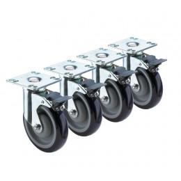 Krowne 28-260S - Heavy Duty 3-1/2in x 3-1/2in Universal Plate Caster