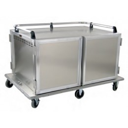 Lockwood CA46-RR12-PT-6PS Low Profile Meal Delivery Cart, 24 Tray