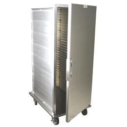 Lockwood CA55-ES32-SD-R Solid Aluminum Door Transport Cabinet 32 Pan