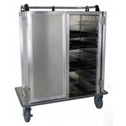 Lockwood CA55-RR21-6PS Aluminum Meal Delivery Cart w/ 21 Tray Capacity