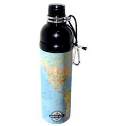 Stainless Steel Water Bottle 24 oz Map