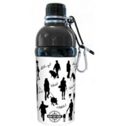 Pet Water Bottle Stainless Steel 16 oz Walk