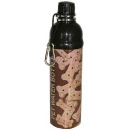Pet Water Bottle Stainless Steel 24 oz Bone