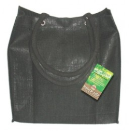 Fully laminated Jute Bags with pockets Black