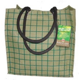 Fully laminated Jute Bags with pockets Green