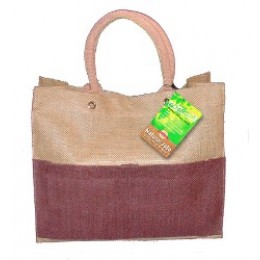 Fully laminated Jute Bags with pockets Brown