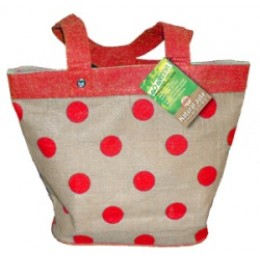 Fully laminated Jute Bags with pockets Red