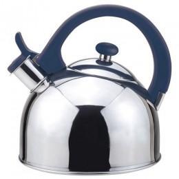 Magefesa 2.1-Quart Acacia Stainless Steel Tea Kettle Blue