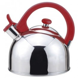 Magefesa 2.1-Quart Acacia Stainless Steel Tea Kettle Red