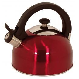 Magefesa 2.1-Quart Sabal Stainless Steel Tea Kettle Red