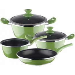 Magefesa Fit Porcelain On Steel Non-Stick 6 Piece Cookware Set Green