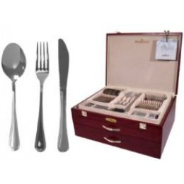 Magefesa Cordoba Stainless Steel 114 PCS Flatware w/ Wood Storage Case