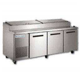 Maxx Cold MXCPP92 Pizza Preparation Table with 12 Pans 32 cu. ft.