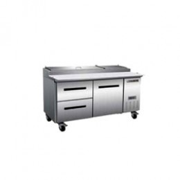 Maxx Cold MXCPP70-DL Pizza Preparation Table with 2 Drawers Left, 1 Door Right