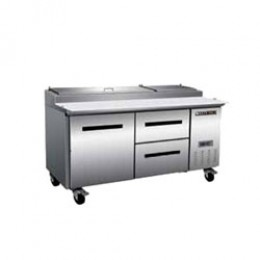 Maxx Cold MXCPP70-DR Pizza Preparation Table with 2 Drawers Right, 1 Door Left