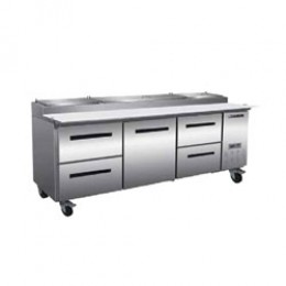 Maxx Cold MXCPP92-DLR Pizza Preparation Table with 2 Drawers Left, 1 Door Center, 2 Drawers Right