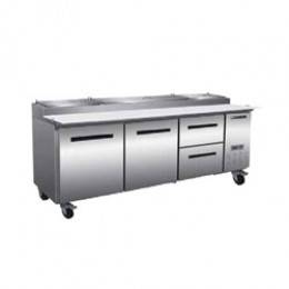 Maxx Cold MXCPP92-DR Pizza Preparation Table with 2 Drawers Right, 1 Door Left
