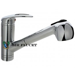 Sir Faucet Single Handle Pull Out Kitchen Faucet Chrome