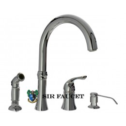 Sir Faucet Single Handle Kitchen Faucet Soap Dispenser and Side Spray