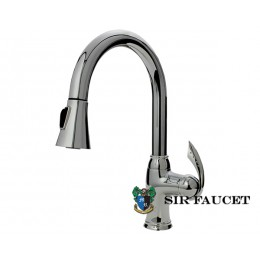 Sir Faucet Single Handle Pull Down Kitchen Faucet Chrome