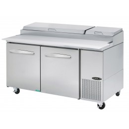Kool-It KPT-67-2 Stainless Steel Pizza Table 67