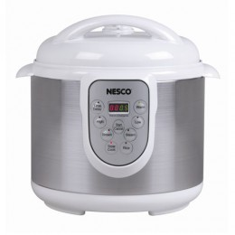 Nesco PC6-14 Digital Pressure Cooker 4 in 1, 1000 Watt - 6Qt.