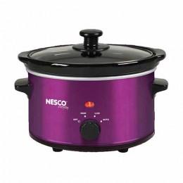 Nesco SC-150V Oval Slow Cooker Metalic Violet 1.5 Qt.
